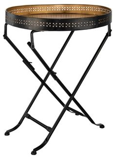 Serve breakfast in bed, brunch on the balcony or lunch on the veranda in style the next time you want to with this gold round folding table tray (yup! this is a table tray). Dimensions 41 x 41 x Round Folding Table, Breakfast In Bed, Vanity Bench, A Table, Furniture, Home Decor, Bed And Breakfast, Decoration Home, Room Decor
