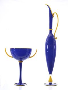 Dante Marioni cobalt blue art glass