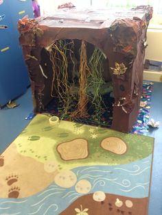 Bear cave for role play Play Based Learning, Learning Through Play, The Very Cranky Bear, Kindergarten, Role Play Areas, Dramatic Play Area, Bear Theme, Bear Party, Camping Theme