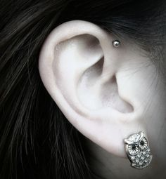 Forward Helix Piercing, had this but my body rejected it :/ Loved it while it lasted though :P