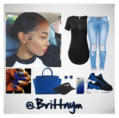"""""""@Brittnym royal Blue"""" by brittnym ❤ liked on Polyvore featuring MICHAEL Michael Kors, Belk & Co., Casetify, NIKE, David Yurman and Ippolita"""