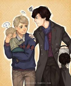 Johnlock!! Ahhhh Parentloooockkk! I can't even deal with the cuteness of baby Hamish!