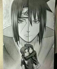 Itachi and Sasuke Uchiha Fan Art Naruto, Anime Naruto, Naruto And Sasuke, Manga Anime, Sakura E Sasuke, Hinata, Naruto Drawings, Sasuke Drawing, Naruto Sketch
