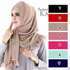 jilbab / hijab pashmina instan khanaya