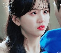 Aesthetic Eyes, Aesthetic Girl, Cool Wallpapers Music, Bring It On Ghost, Iu Gif, Crying Pictures, Kim So Hyun Fashion, Korean Picture, Crying Gif