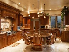Traditional Kitchen with Kitchen island, Simple granite counters, Limestone…