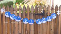 Let It Snow Banner by sweetbannerofmine on Etsy
