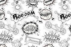 Seamless pattern comic speech bubble by Yayasya on Creative Market