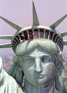 NYC. Lady Liberty has people in mind