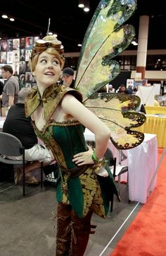 Steampunk Tinkerbell Disney Cosplay - womens clothing, goggles, wings, hat, dress, boots