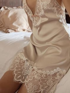 Lace Slip, Satin Slip, How To Dress A Bed, Bridal Robes, Underwear, Costume, Lingerie Collection, Beautiful Lingerie, Lingerie Sleepwear
