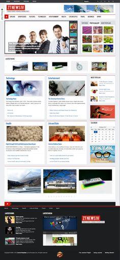 ZT News 4 Joomla Magazine Template