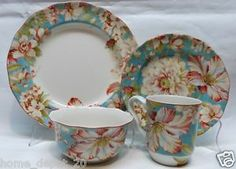 222 FIFTH Marley Teal 16 Pc Dinnerware Set $69.95 TOTAL PRICE ...