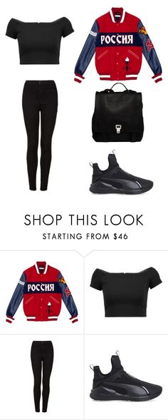 """Untitled #2286"" by ordinarydays ❤ liked on Polyvore featuring Opening Ceremony, Alice + Olivia, Topshop, Puma and Proenza Schouler"