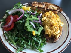 A very quick and tasty egg salad sandwich!  The spice mixture is delightful.  The turmeric gives it a beautiful egg-yellow color and the cayenne provides a nice kick.