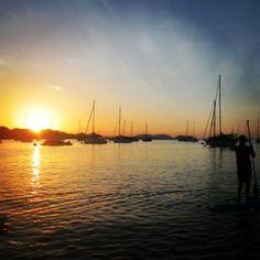 SUP in Balboa Harbor.  Panama , Rep of Panama