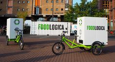 Solar powered trikes deliver food to local businesses without the emissions Amsterdam-based FOODLOGICA is using sustainable e-trikes powered by the sun for 'last mile' food transport from city farmers' markets to local catering businesses. Bike Food, Velo Cargo, Amsterdam Food, Electric Tricycle, Electric Cars, Last Mile, Food Truck Design, Restaurant Marketing, Meal Delivery Service