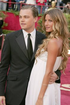 The 77th Annual Academy Awards, 2005 ~ DICAPRIO & BUNCHEN, HE WON'T COMMIT SO SHE MOVED ON TO TOM BRADY, YES, THE QB ~    - Redbook.com