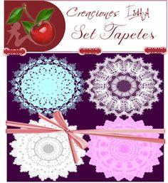 Scrapp Isdaya: Tapetes. Colección de 4 tapetes.