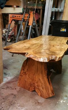 Hand Made Spalted Water Oak Live Edge Coffee Table by timbertotables | CustomMade.com
