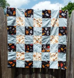 Baby Blanket Patchwork Quilt Lions Tigers by MoomettesCrochet