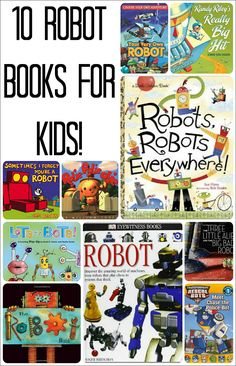 Robot books for kids - perfect for a robot theme or for those robot-obsessed kiddos!
