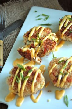 IPA Crab Cakes with Spicy Beer Hollandaise