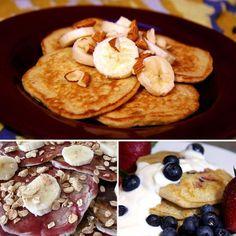 10 Healthy Pancake Recipes - pancakes from quinoa, Greek yogurt, and egg whites
