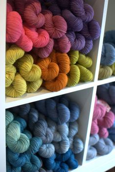I'm obsessed with yarn! I love all the colors for my crochet projects!