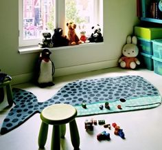 Buddy Whale | 41504 blue | Brink & Campman Kid's Collection | MODERN RUGS UK