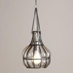 Blown Glass Bulb Pendant