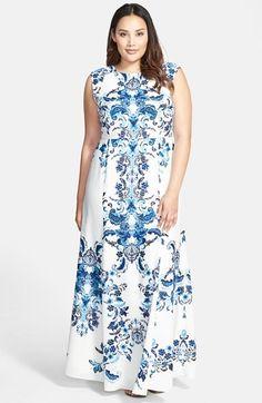 Plus Size Maxi Dress big size fashion http://amzn.to/2kRZpiY ...