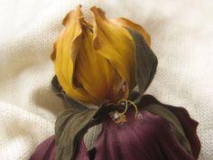 Мастер-класс цветы из кожи. Ирис Анжелло.
