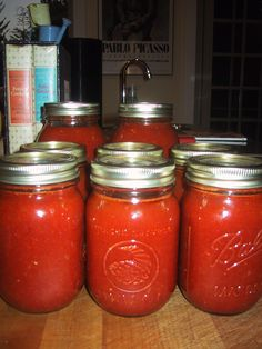 Canning tomato sauce without removing the peel or seeds...interesting and one I might try.  I think I will add some carrots just in case for some sweetness.