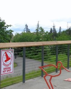 An unobstructed view of the birds! Thanks to Ultra-tec® cable railing infill.