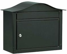 """Architectural Mailboxes Lunada Wall Mount Locking Mailbox, Black by Architectural Mailboxes. $91.49. Finishes: White (shown at left), Black, Sand, Pearl Grey, or Bronze. Constructed with 14 lbs of solid Stainless Steel!. Incoming Mail Slot: 1.5"""" High x 13"""" Wide. 1 year manufacturer warranty. Optional address is sent as a separate formatted template that you can adhere onto your Mailbox.. This solid color design gives you a locking mailbox with over 14 pounds of 8 and 20 gau..."""