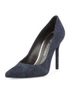 a27ba78ebe6 Stuart Weitzman antique denim fabric pump. 4