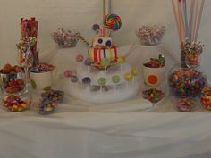 A Candy bar we created for my little sisters 15th birthday party.