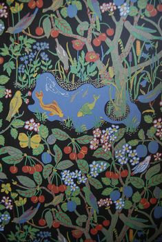 Iconic Josef Frank design. The Paradise. Textiles and wallpaper.