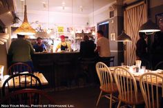 Dining Area at Dinnertable in New York City