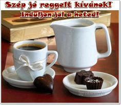 kávé, reggeli, JÓ REGGELT, SZÉP NAPOT! - alliteracio oldala Bowl Set, Good Morning, Humor, Pictures, Vodka, Album, Facebook, Bom Dia, Photos
