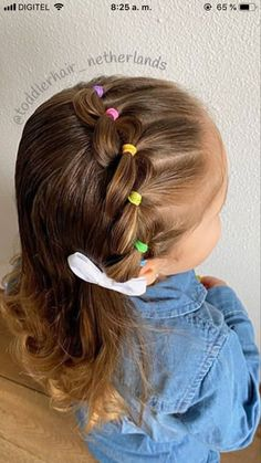 Easy Little Girl Hairstyles, Girls Hairdos, Baby Girl Hairstyles, Easy Toddler Hairstyles, Crochets Braids, Kind Mode, Hair Hacks, Hair And Nails, Curly Hair Styles
