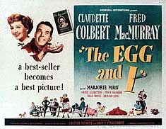 The Egg and I is a 1947 film directed by Chester Erskine, who co-wrote screenplay with Fred F. Finklehoffe, based on the book of the same name by Betty MacDonald. This comedy was such a hit with audiences, it spawned the Ma and Pa Kettle film series. 1940s Movies, Vintage Movies, She Movie, Film Movie, Marjorie Main, Claudette Colbert, Old Hollywood Movies, City Folk, Egg And I