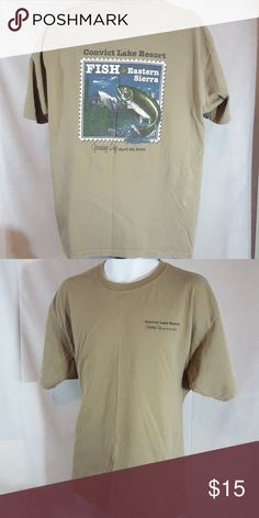 """Convict lake resort green XL t shirt Good condition.  Measures 24"""" across chest and 28 1/2"""" long from top mid shoulder to bottom hem Shirts Tees - Short Sleeve"""