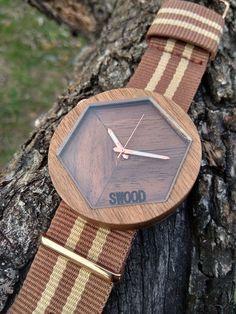 Wooden watch handmade greece by swood