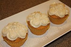 Spiced Pumpkin Cupcakes!!! (from a mix)  You'll be in pumpkin heaven : )