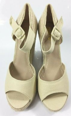 e513411f9f Womens Beige Platform Sandals Ladies High Wedge Heel Summer Shoes Size UK 8  New #sandals