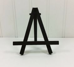 Small Black Easel Tabletop Mini Folding Wood For Miniature Art Place Cards Table Numbers