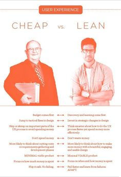 Cheap vs. Lean. Which one are you?