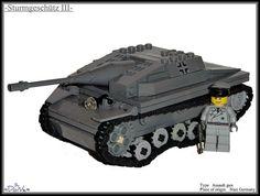 #Lego ww2 -Sturmgesch�tz III-  Like,repin and share:) Awesome Lego, Cool Lego, Lego Ww2, Lego Stuff, Lego Creations, Legos, Military Vehicles, Wwii, Inventions
